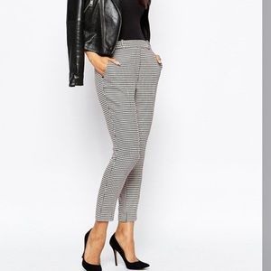 River Island Houndstooth Cigarette Trousers